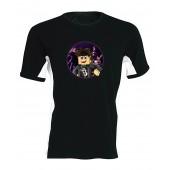 Black1200 - Ender Blackista oldalsávos férfi póló