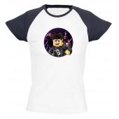 Black1200 - Ender Blackista női póló színes vállal
