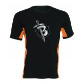 Black1200 oldalsávos férfi póló
