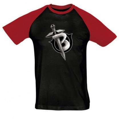 Black1200 férfi póló színes vállal