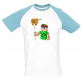 XP - Kormi férfi póló színes vállal